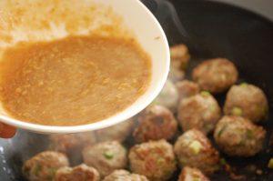yakitori pork tsukune meatballs