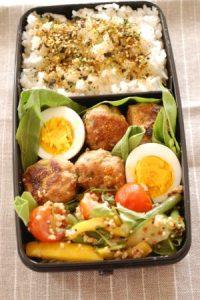 obento with pork tsukune