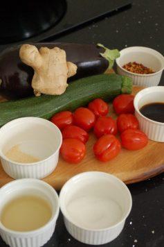 野菜の南蛮漬け過程